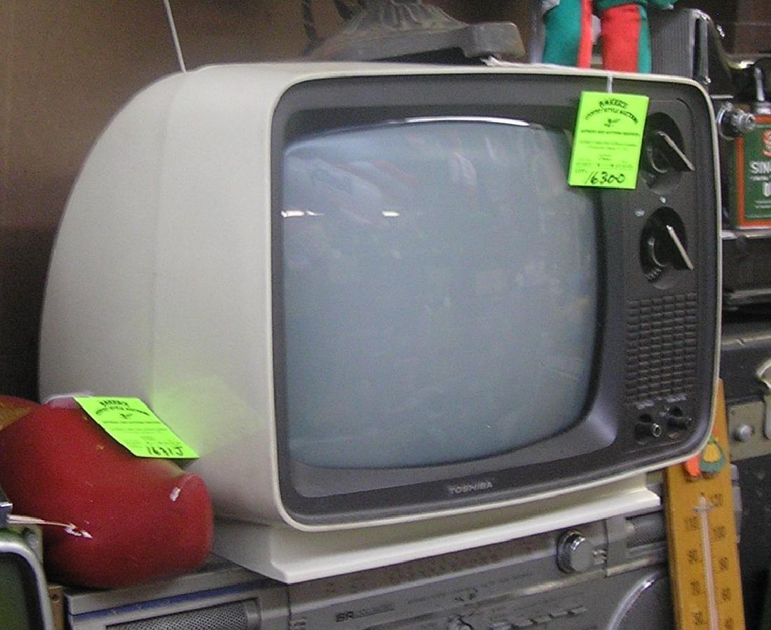 Vintage Toshiba TV set