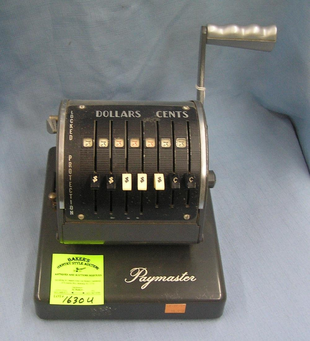 Vintage Paymaster check writing machine
