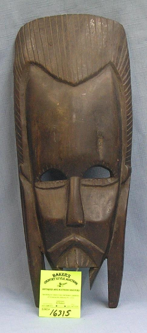 Antique hand carved African mask