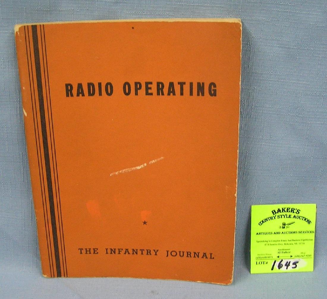 Vintage radio operating book