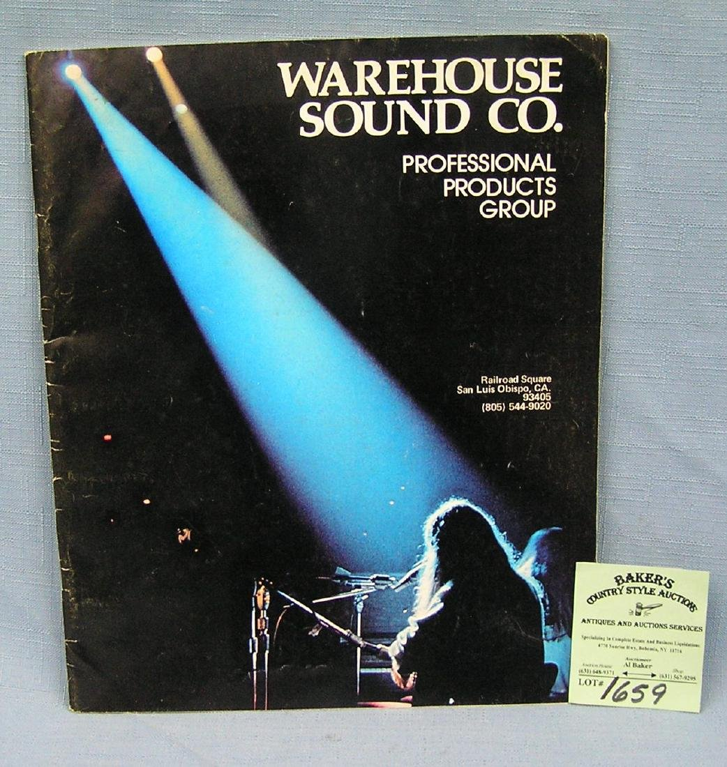 Warehouse Sound Co. musician's catalog