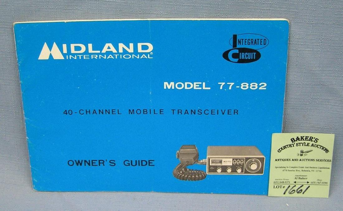 Vintage Midland CB radio catalog