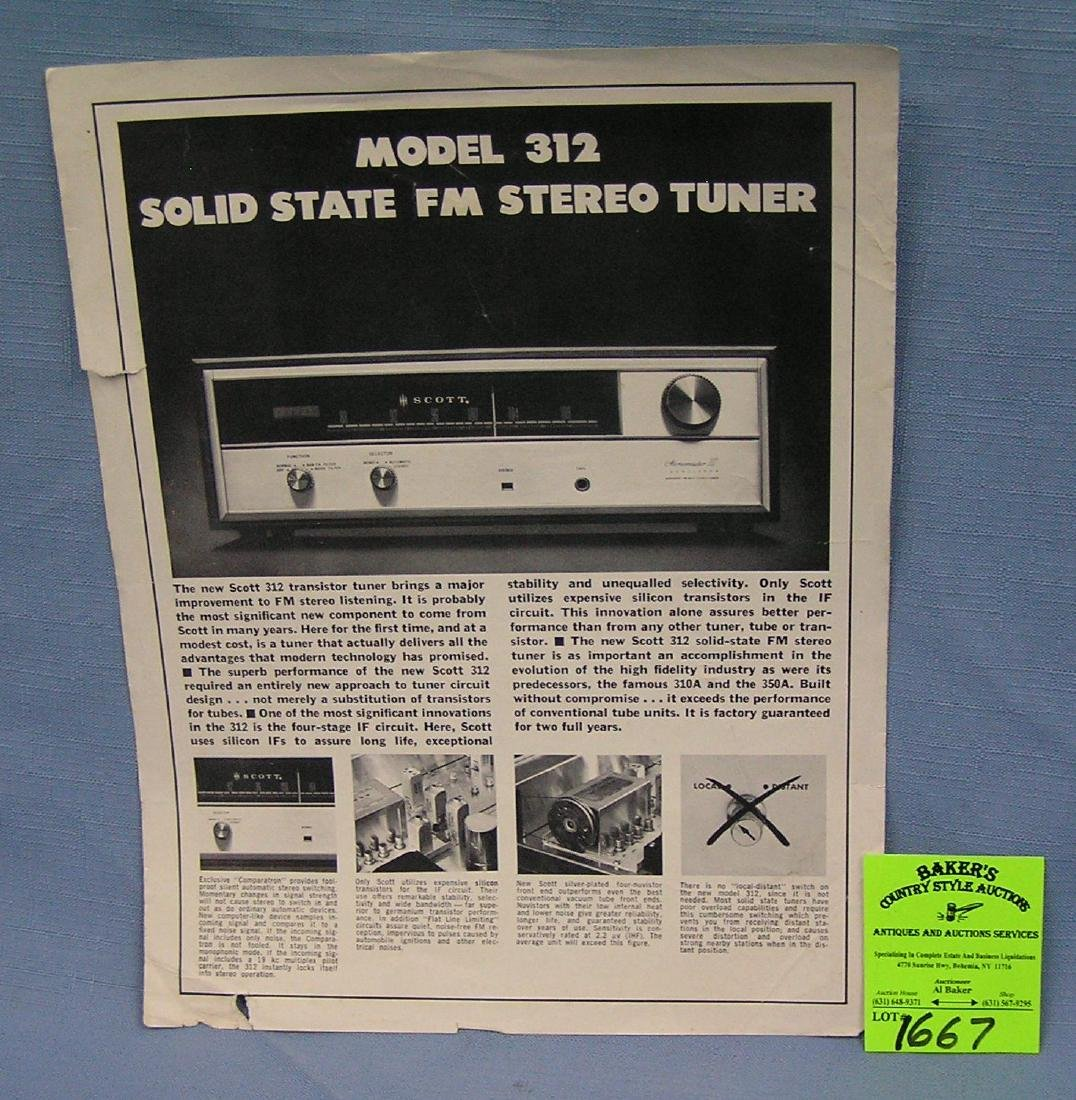 Scott solid state FM stereo tuner pamphlet