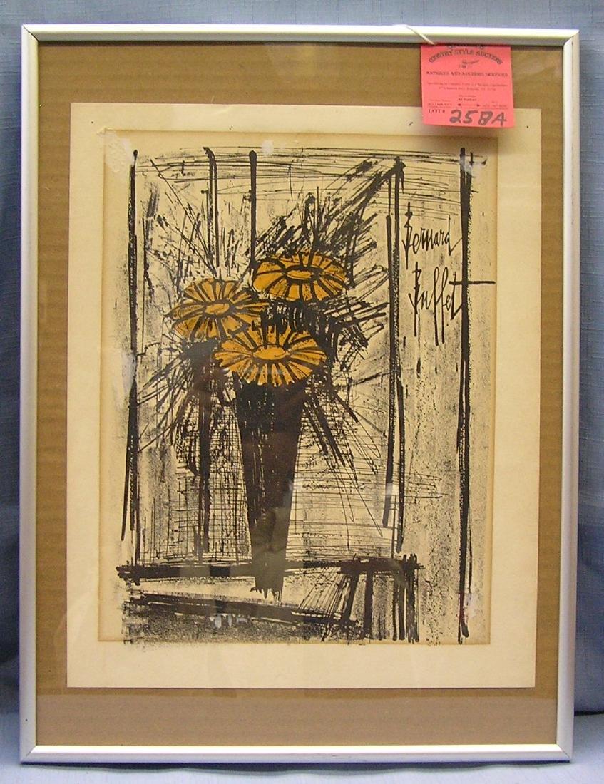 Vintage Bernard Buffet lithograph print