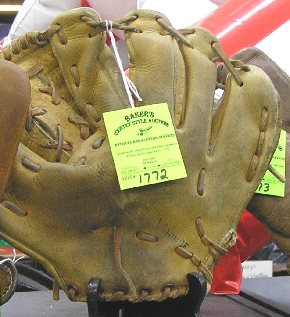 Early leather baseball glove