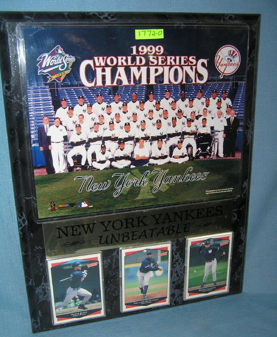 NY Yankees World Series champions wall plaque