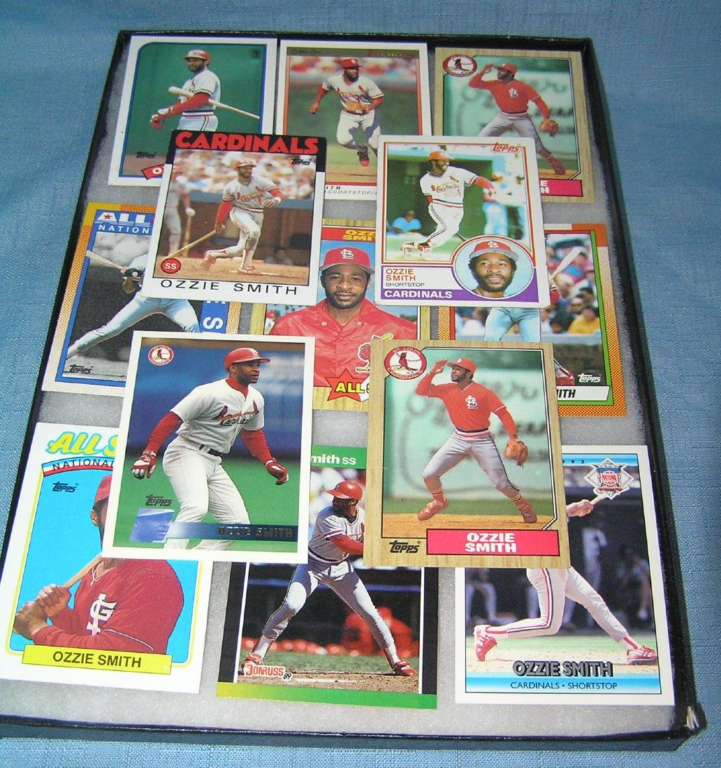 Ozzie Smith all star baseball card collection