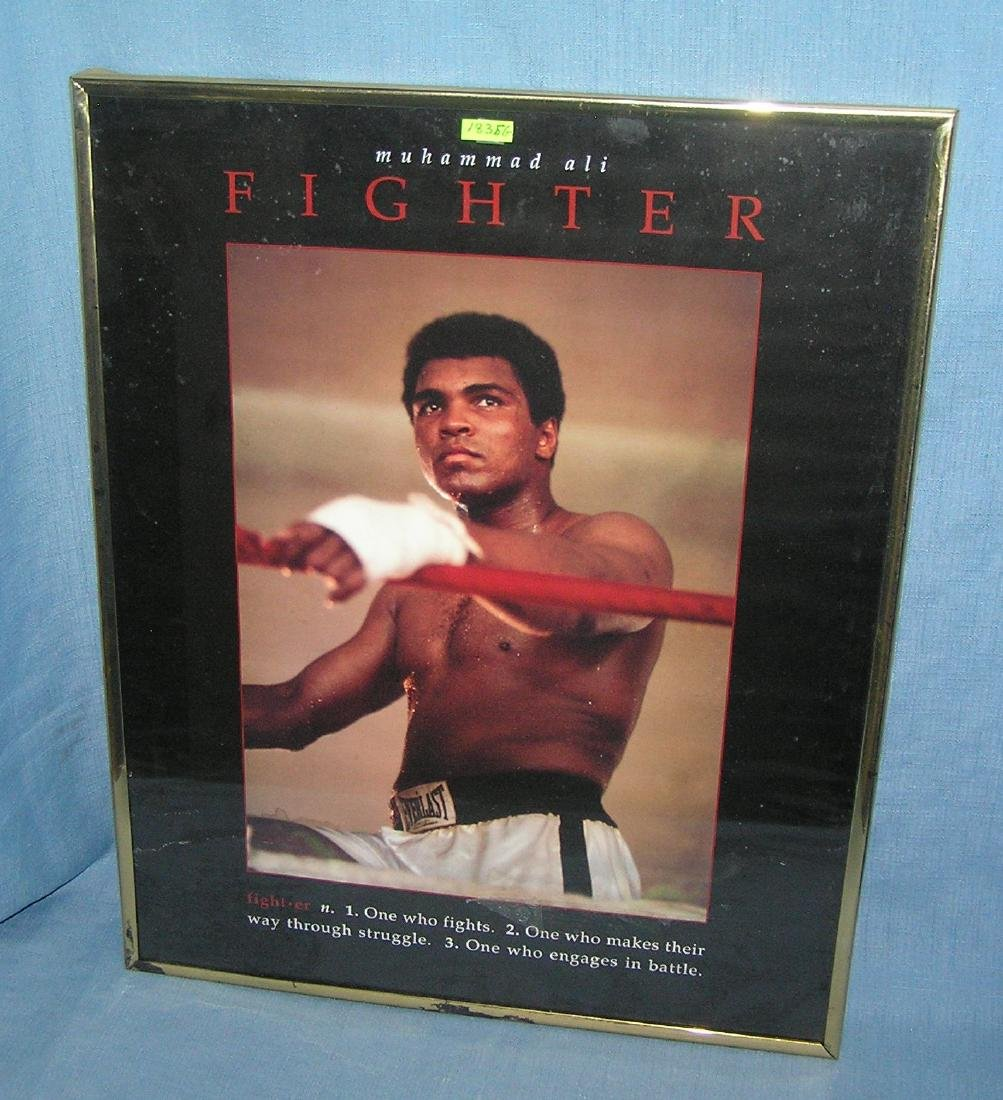 Muhammad Ali the fighter limited edition framed poster