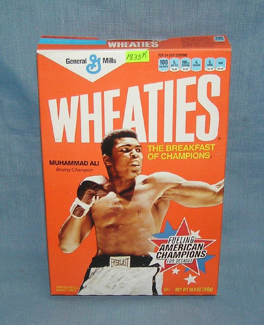 Muhammad Ali Wheaties cereal box