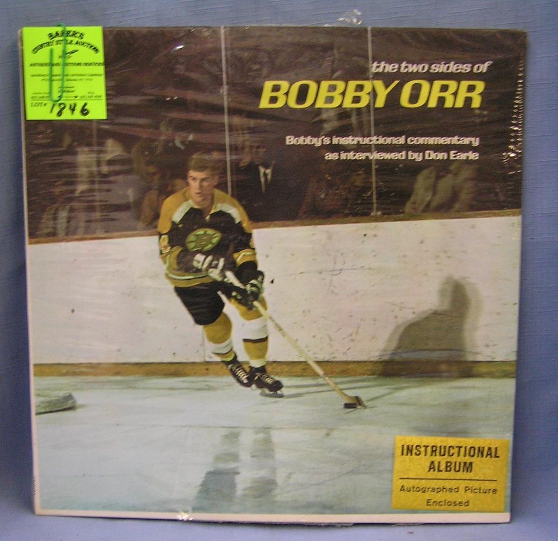Vintage Bobby Orr hockey record set