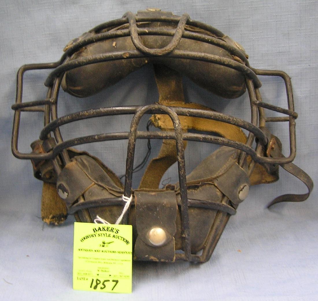 Antique catcher's mask