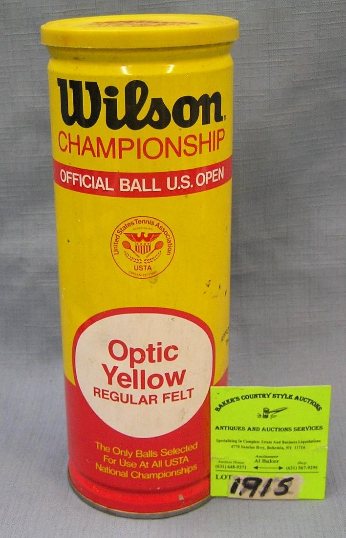 Vintage can of Wilson tennis balls in all tin case