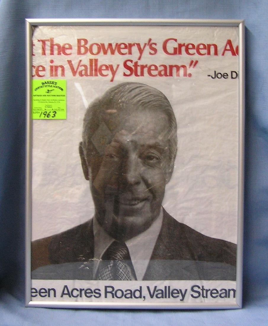 Vintage Joe DiMaggio advertising piece
