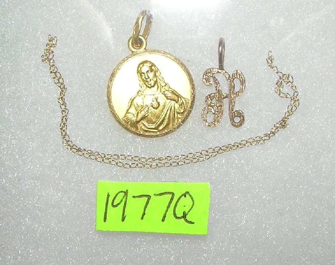 Group of 3 gold pieces