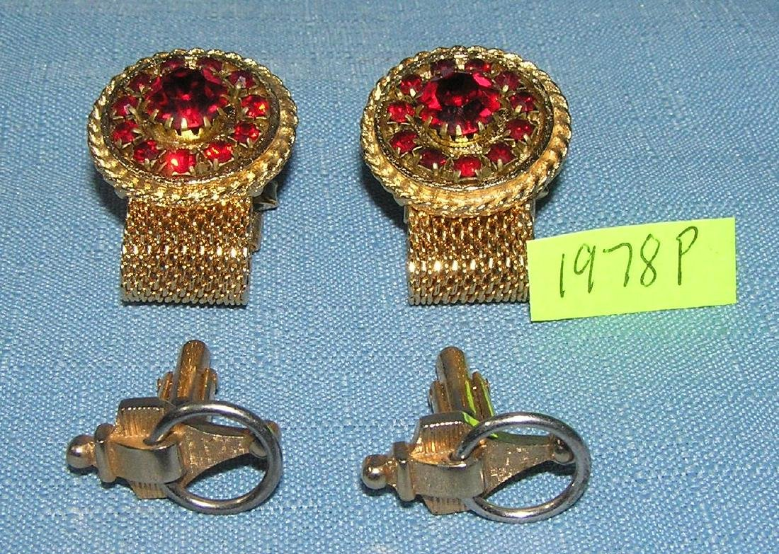 Two pairs of vintage cuff links circa 1950's