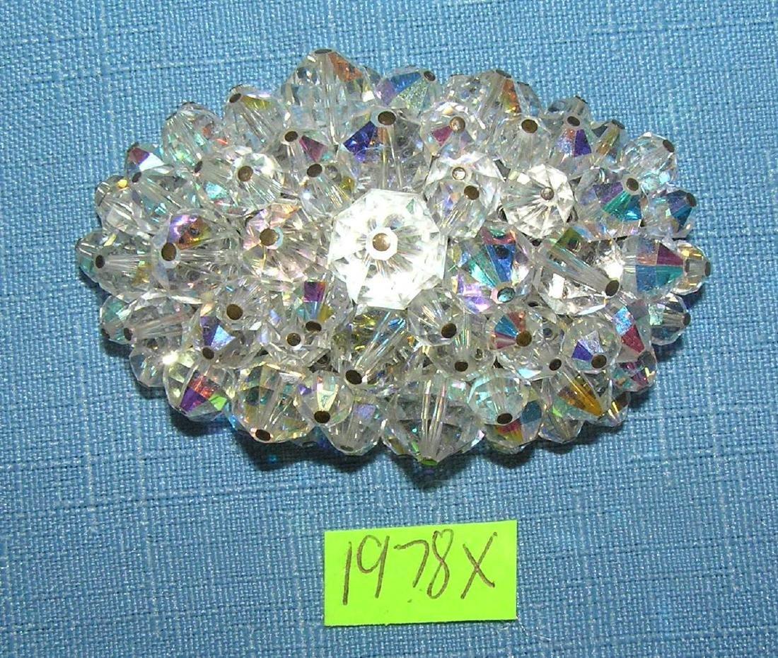 Large crystal vintage brooch circa 1950's