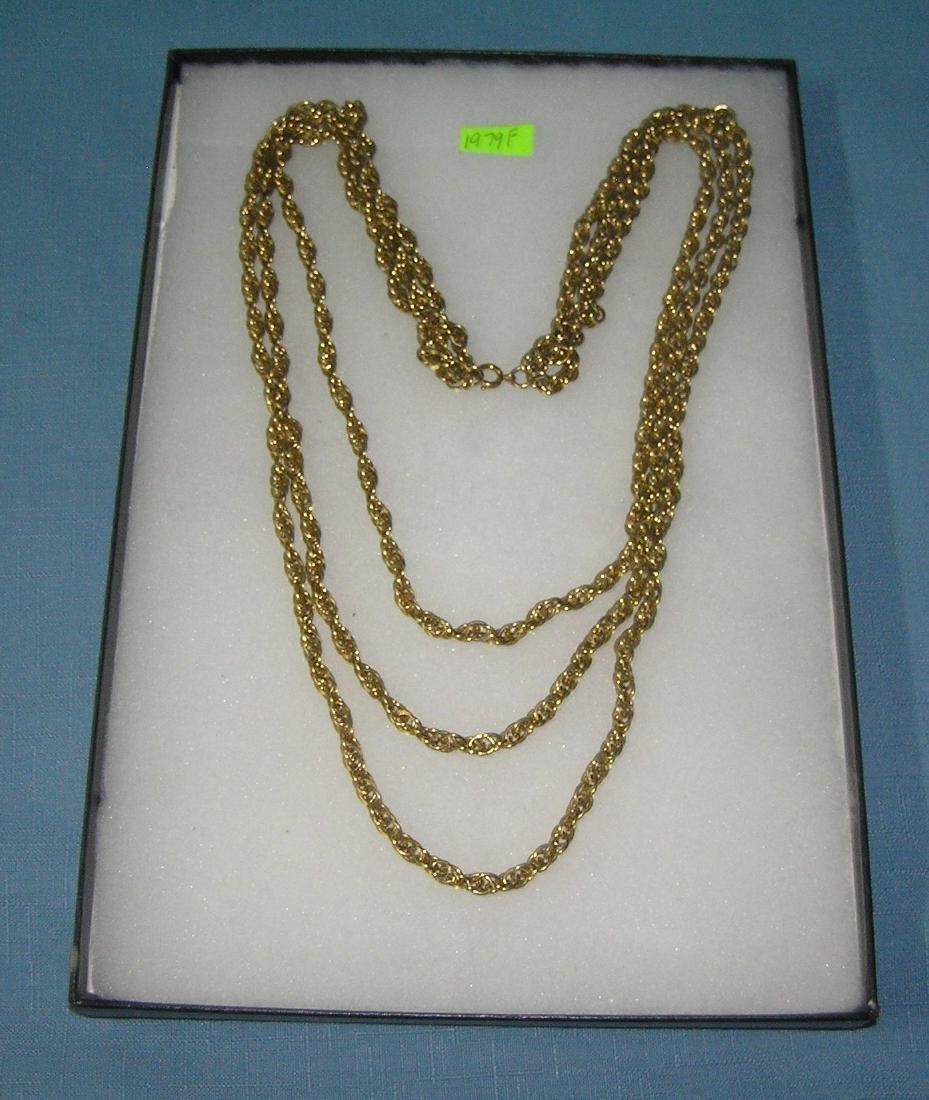 Heavy costume jewelry necklace
