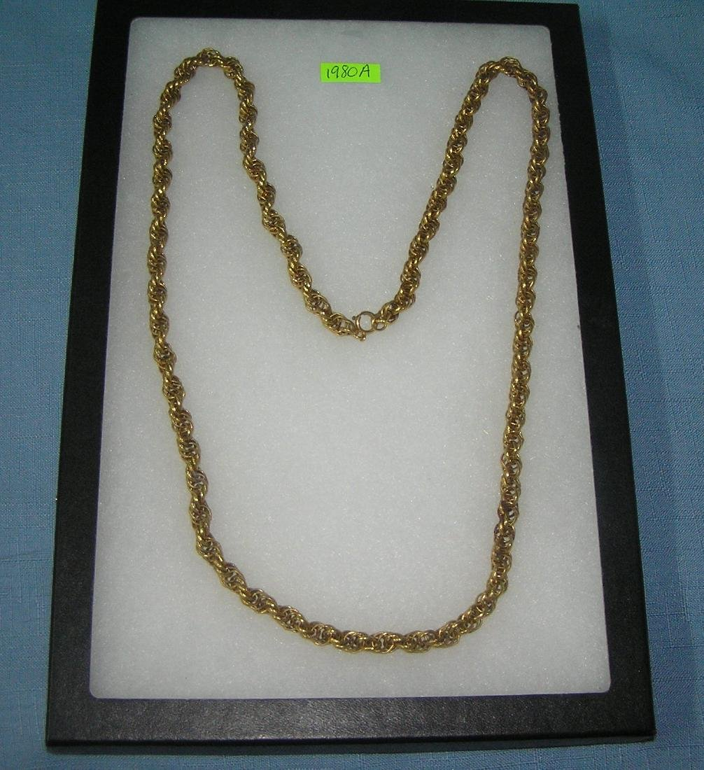 Heavy vintage gold plated necklace