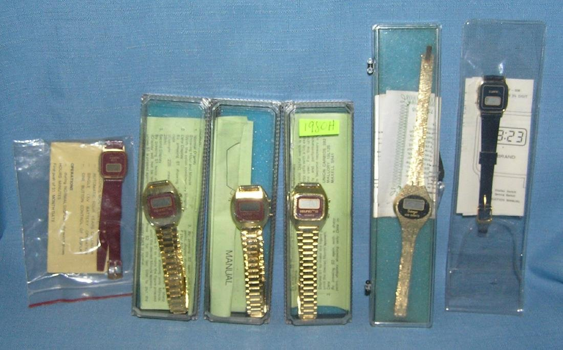 Group of 6 mint in box and on card wrist watches
