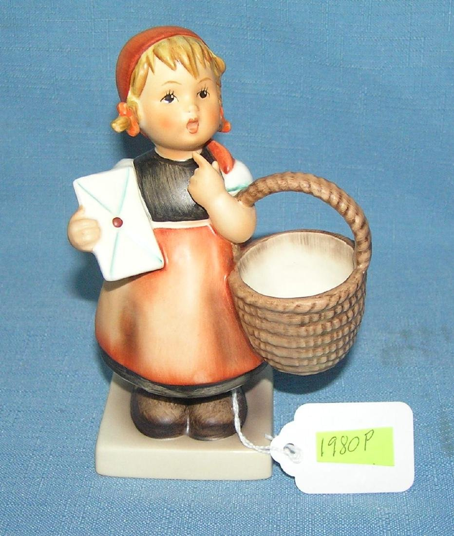 Hand painted Hummel figurine girl with basket