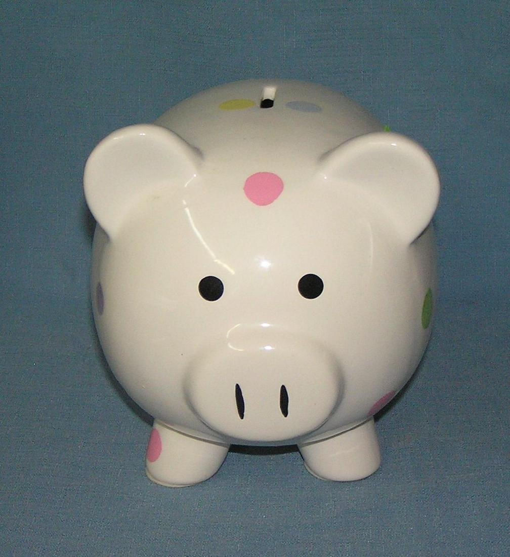 Large ceramic pig bank