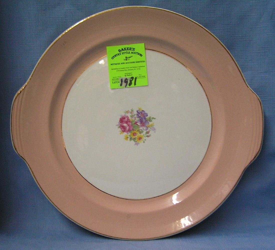 Floral decorated serving platter