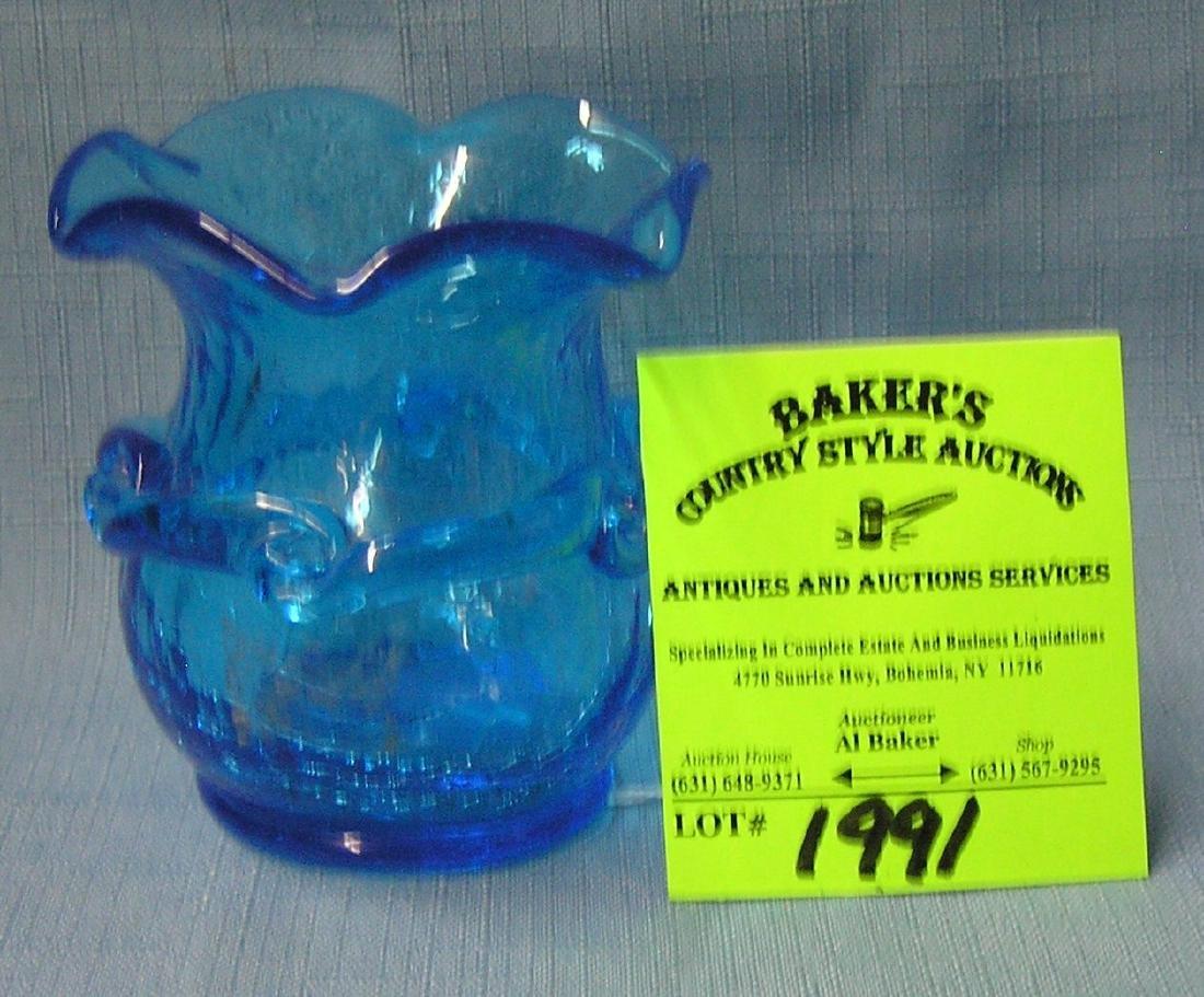 Antique crackle glass vase