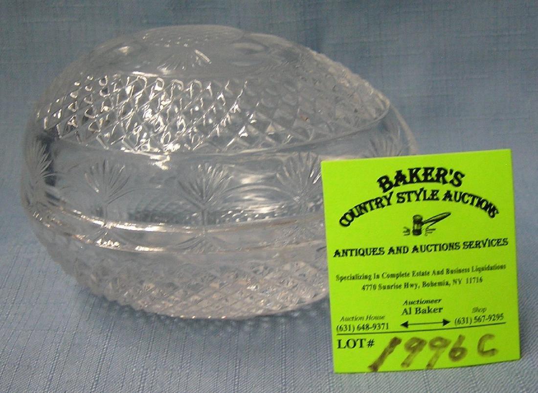 Crystal egg shaped trinket box