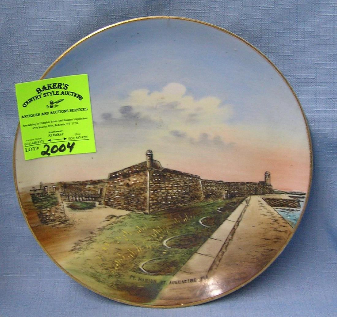 Fort Marion of St. Augustine FL collectors plate