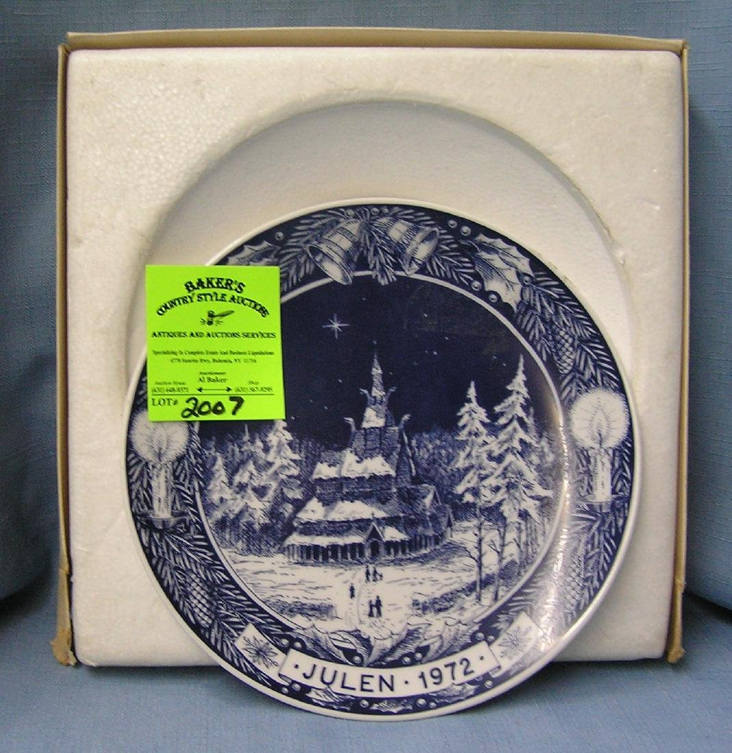 Vintage winter scene collectors plate