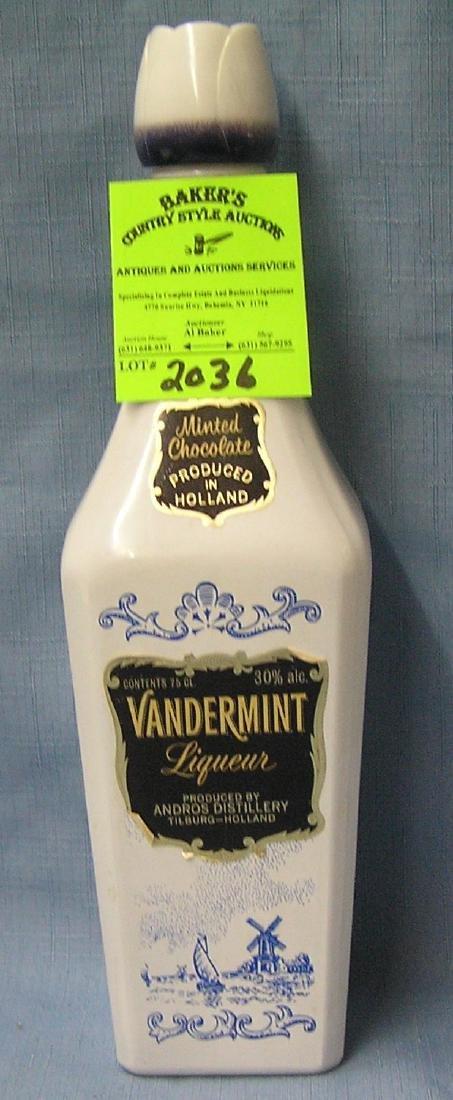 Vintage Delftware liquor bottle