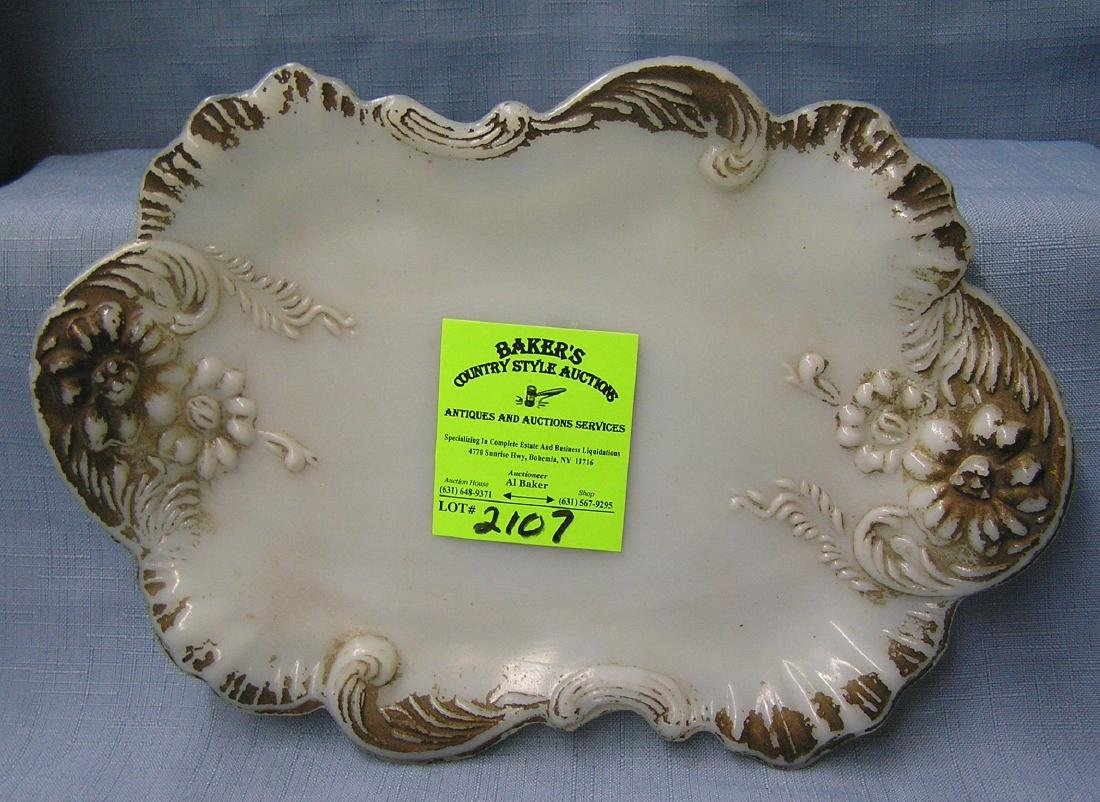 Early Milk Glass serving dish