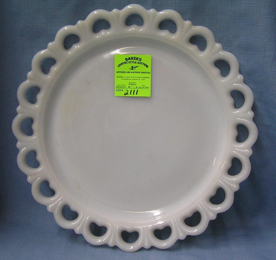 Large vintage Milk Glass serving platter