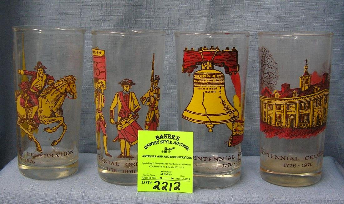 Bicentennial decorated drinking glasses