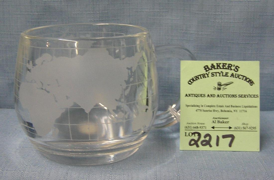 Vintage Nestle company world decorated cup
