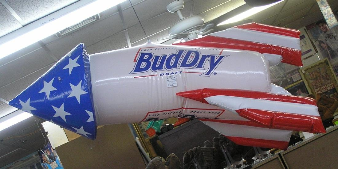 Inflatable Budweiser promotional space ship
