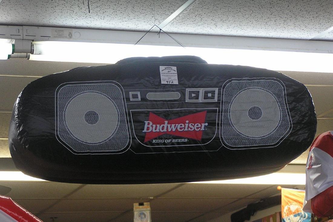 Budweiser boom box advertising piece