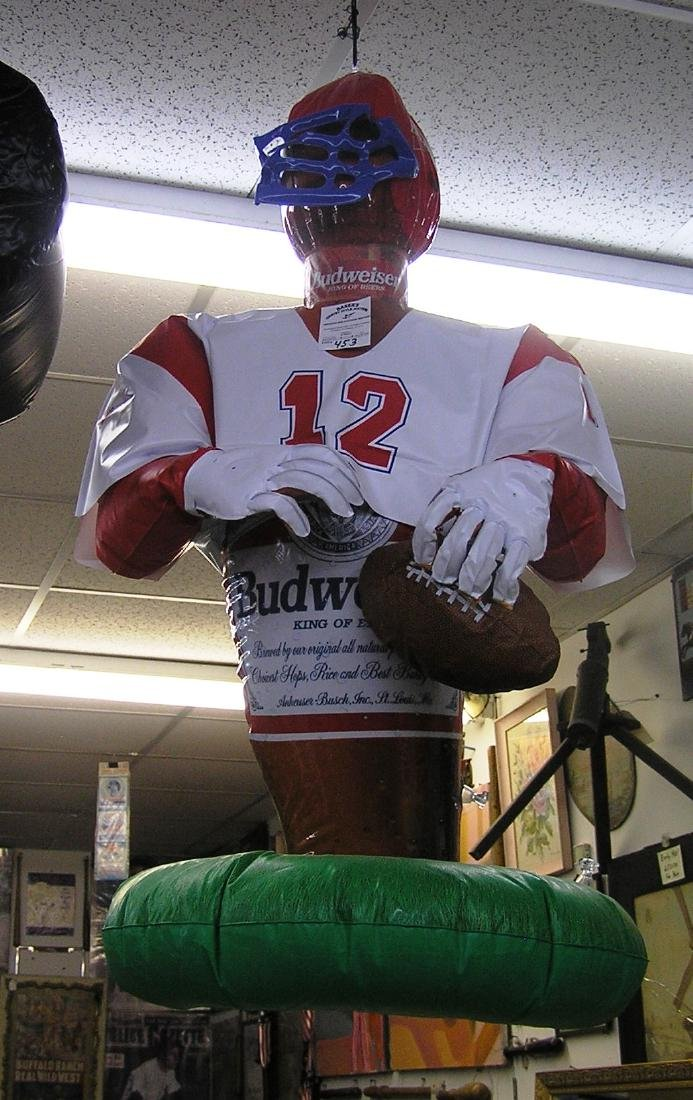 Budweiser promotional inflatable football player