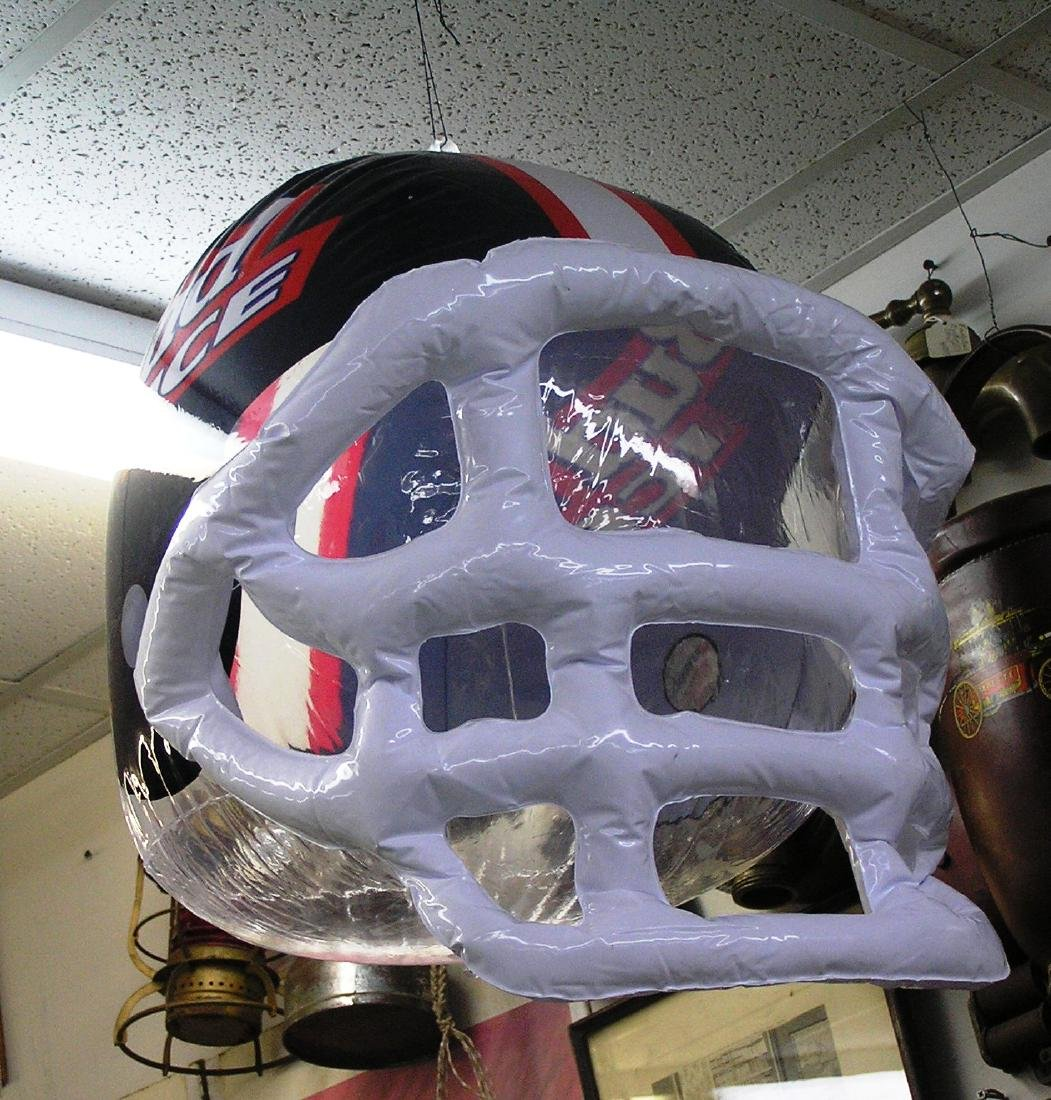 Inflatable Budweiser promotional football helmet