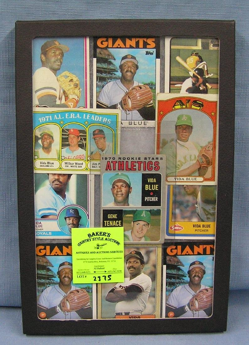 Collection of vintage Topps Vida Blue baseball cards