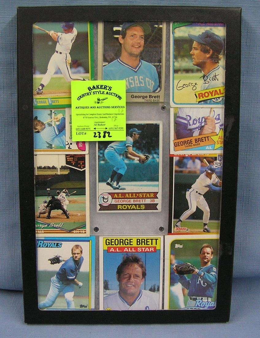 Collection of vintage George Brett baseball cards