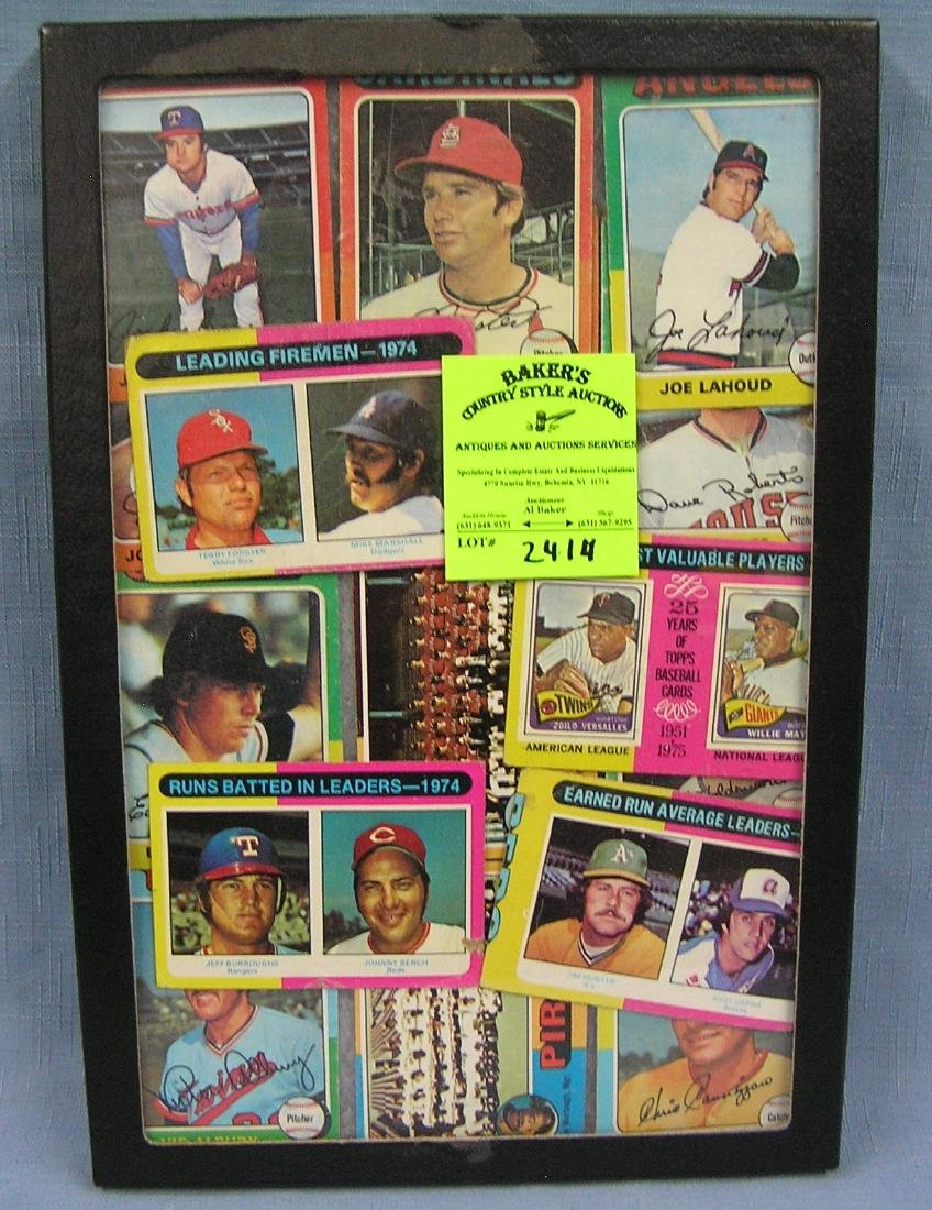 Collection of vintage1975Topps baseball cards