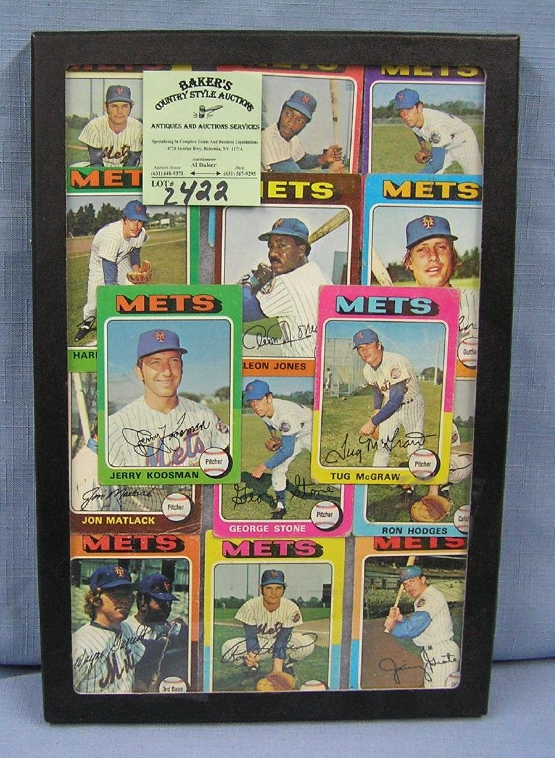 Vintage1975 Topps NY Mets baseball cards