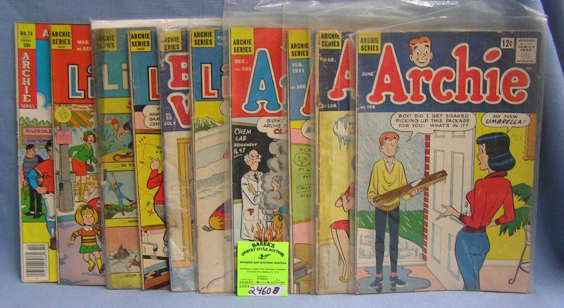 Group of early Archie comic books