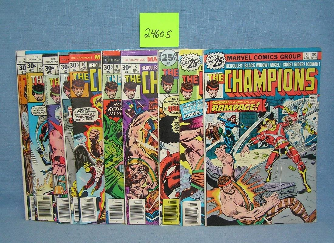 Group of early Marvel The Champions comic books