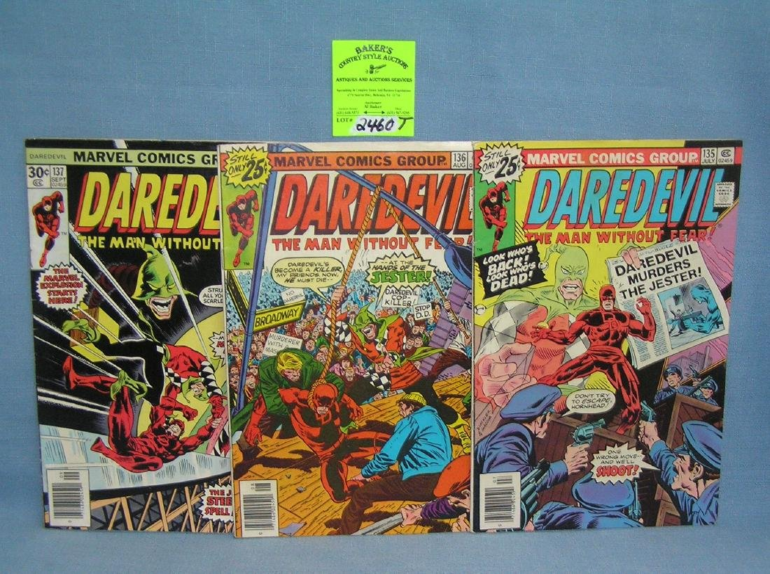 Group of early Marvel Dare Devil comic books