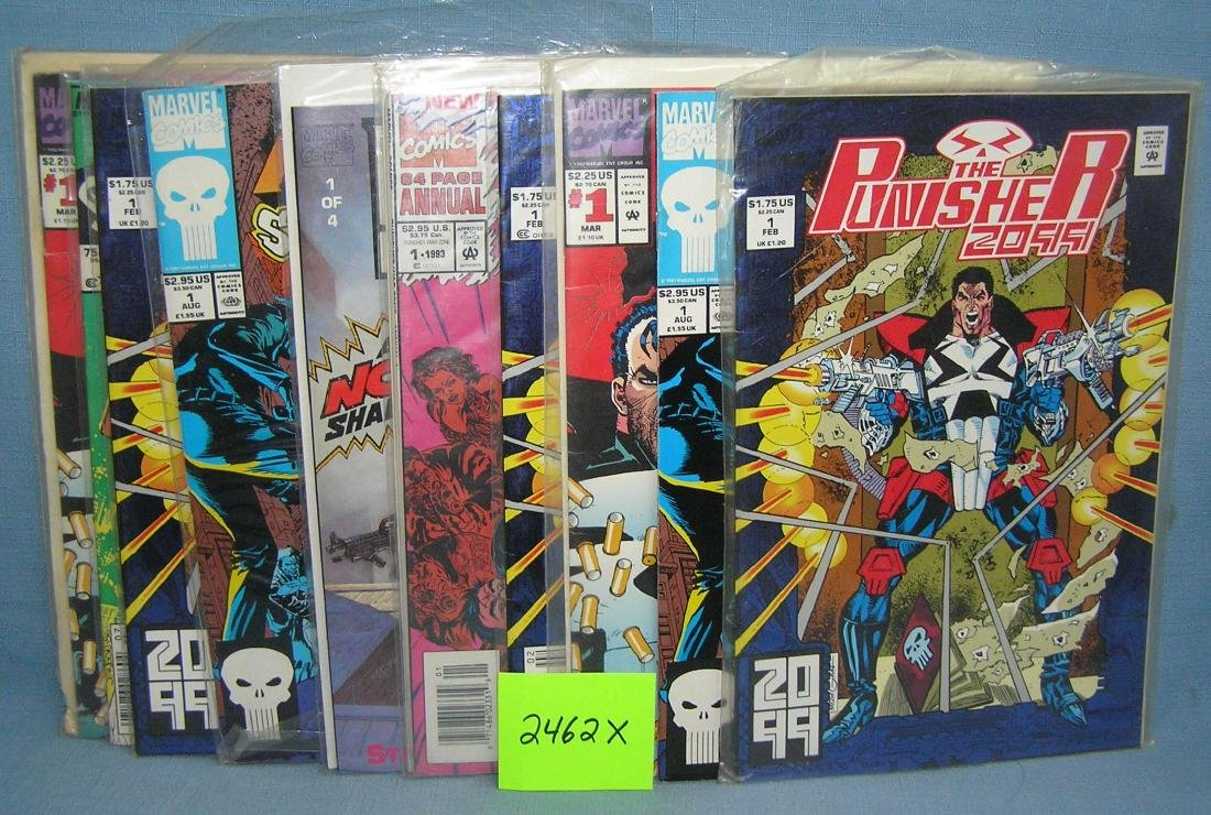 Punisher first edition Marvel comic books