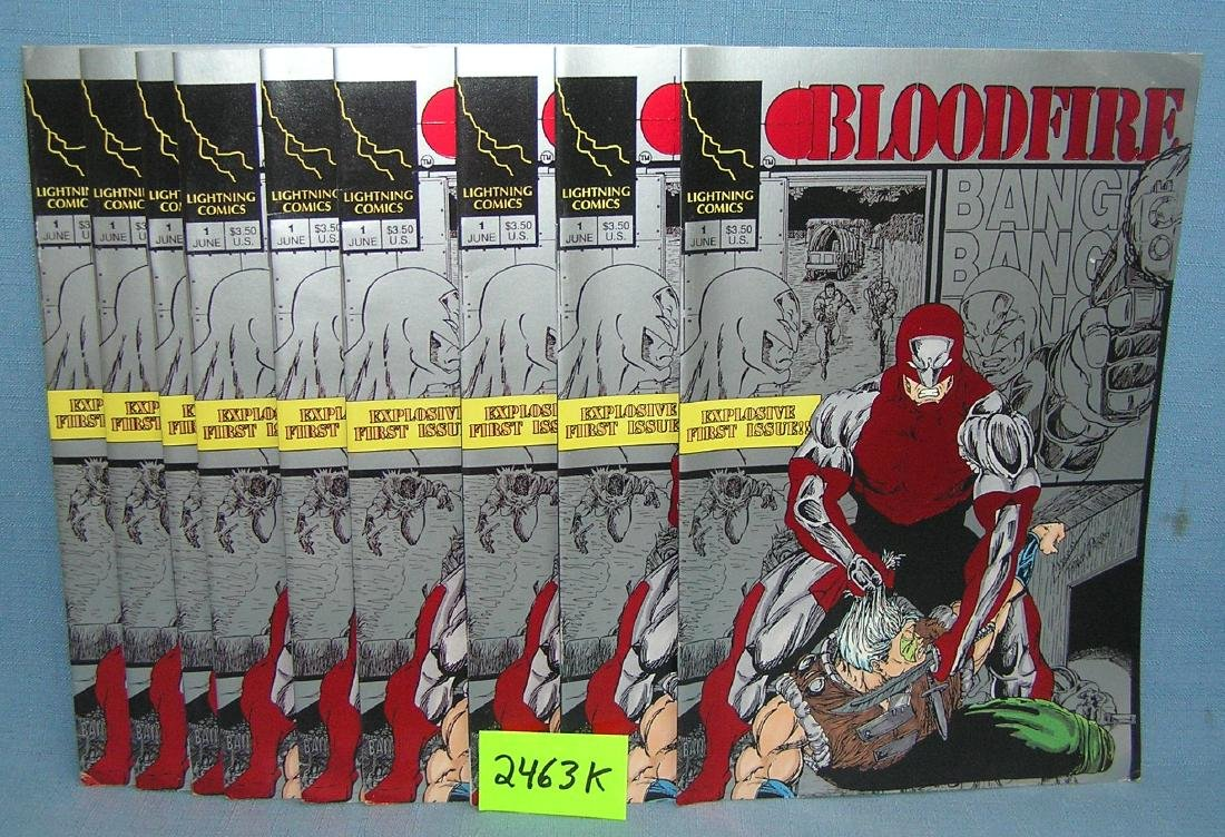 Blood Fire first edition comic books