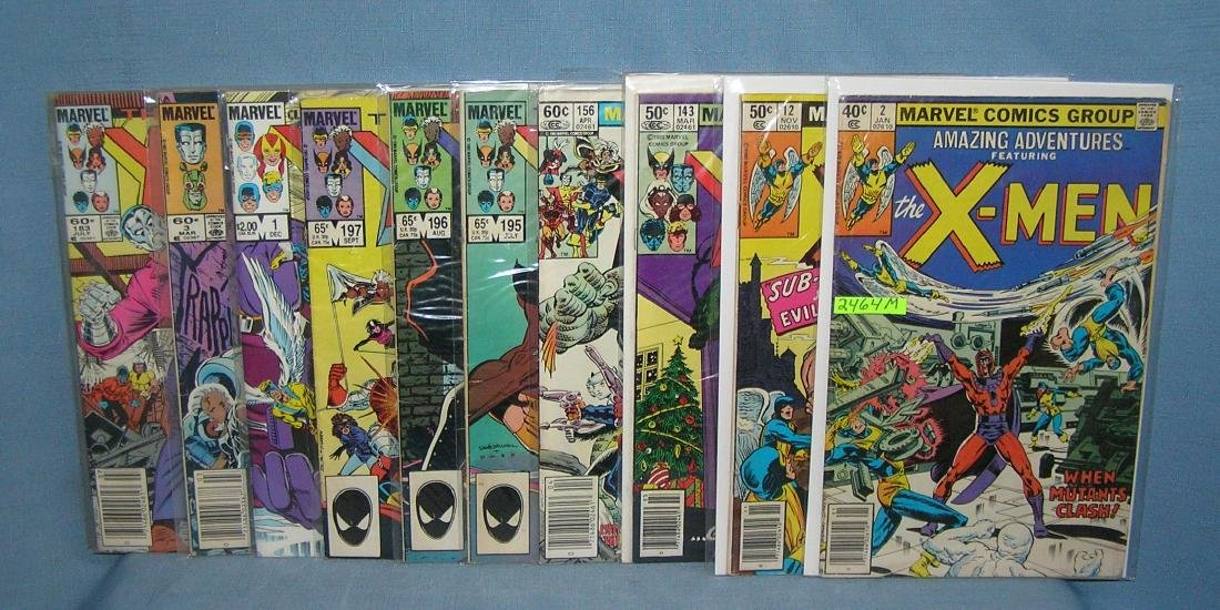 Group of early Xmen comic books