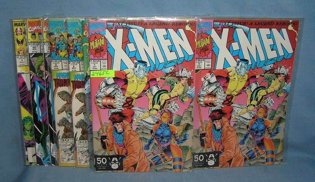 Collection of vintage Xmen comic books